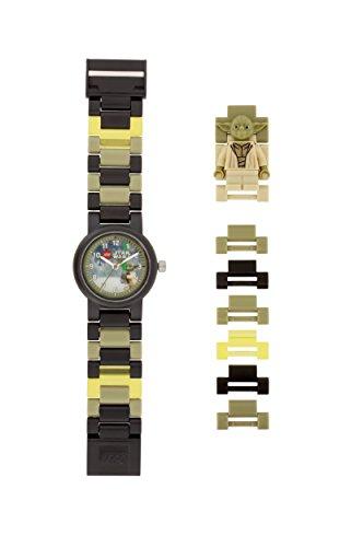 LEGO Star Wars 8021032 Orologio da polso componibile per bambini con cinturino a maglie e minifigure Yoda