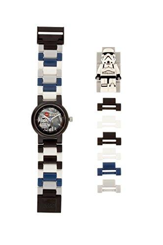 LEGO Star Wars 8021025 Orologio da polso componibile per bambini con cinturino a maglie e minifigure Stormtrooper