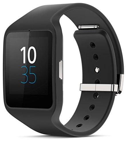 "Sony SWR50 Smartwatch 3, Display Transflettivo da 1,8"", Processore Quad ARM A7 1.2 Ghz, Memorie RAM da 512 MB, Nero"