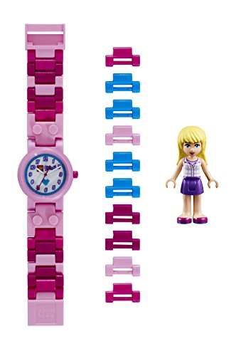 LEGO Friends 8020172 Orologio da polso componibile per bambini con cinturino a maglie e minifigure Stephanie