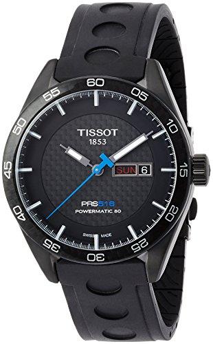 Orologio Tissot PRS 516 Automatic Gent T1004303720100 Automatico Acciaio Quandrante Nero Cinturino Caucciu'