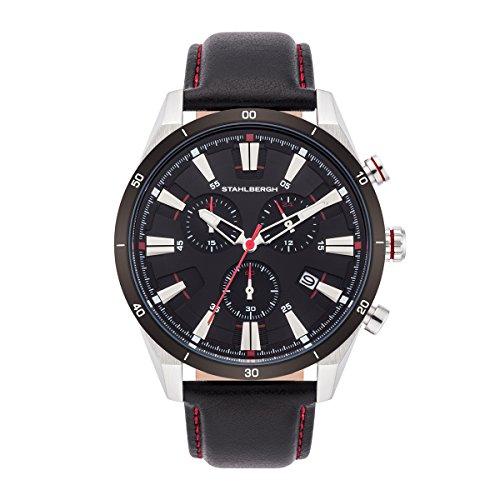 Stahlbergh Stavanger orologio da uomo cronografo 5ATM nero 10060078